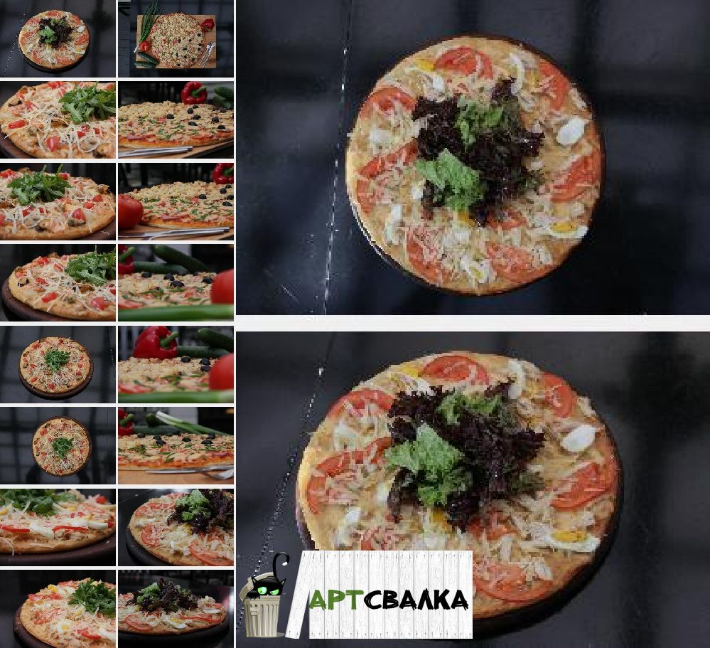 Аппетитные пиццы фото в разных ракурсах | Mouth-watering pizza photo in different angles